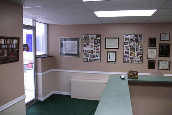 Office Space Interior with Front Desk